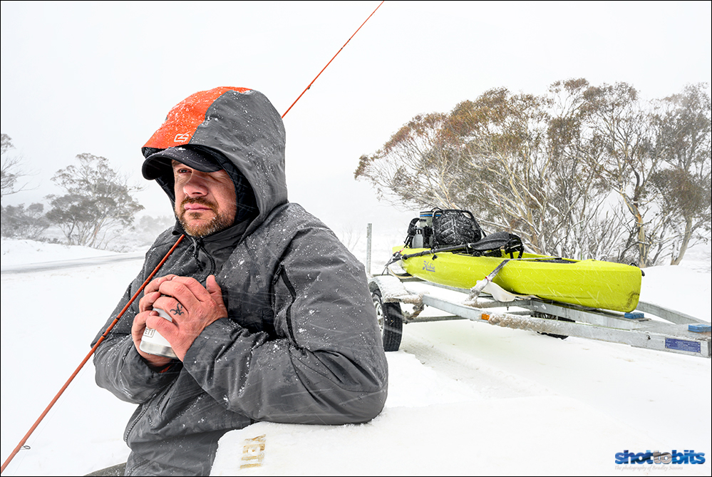 Fly Fishing Preparation in the White Out. Matt Tripet from The Fly Program