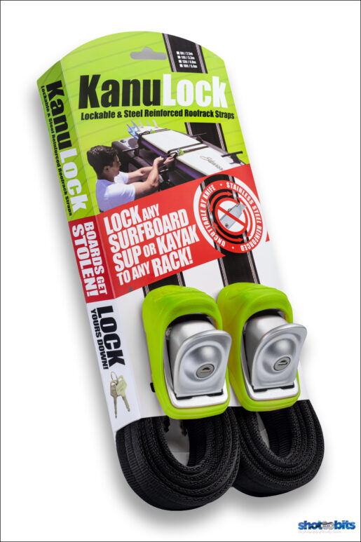 Kanulock Lockable Tie-Downs Green 8 ft / 250 cm